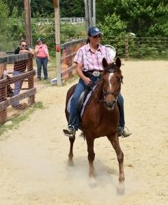 Heather rides Allie