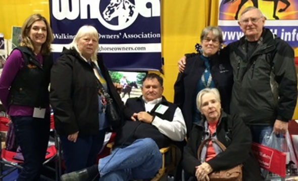 Yankee Walkers Members with Gary Lane at the 2014 Equine Affaire